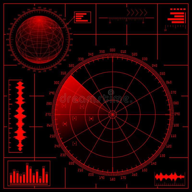 Ecrã de radar ilustração stock