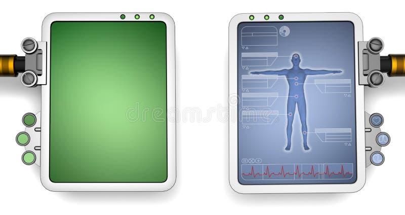 Ecrãs de computador ilustração stock