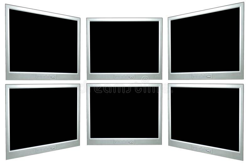 Ecrãs de computador em branco ilustração royalty free