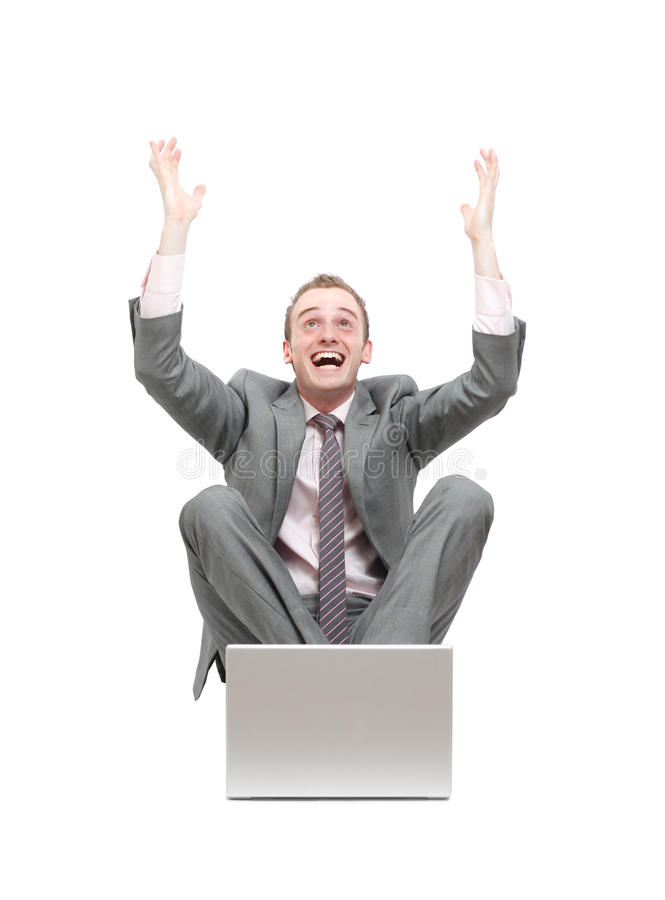 Download Ecstatic business man stock image. Image of excited, attractive - 14572475