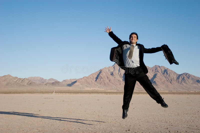 Download Ecstatic business man stock photo. Image of desert, case - 3680962