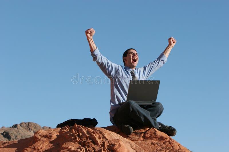 Download Ecstatic Businessman Stock Photo - Image: 4214230