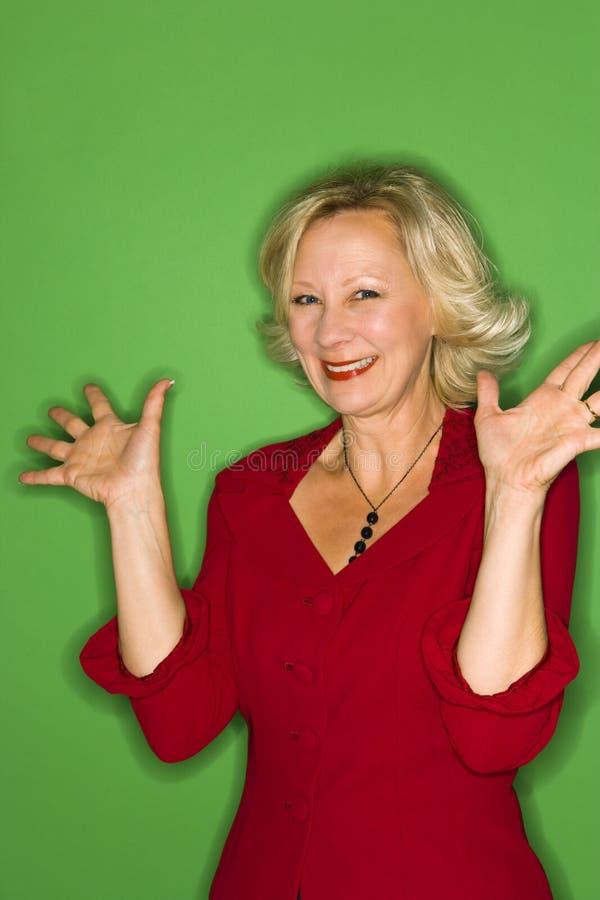 Ecstatic Woman royalty free stock photo