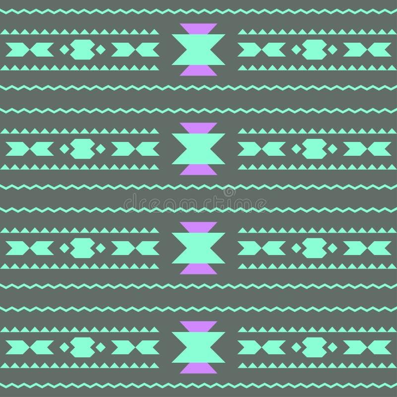 Ector bezszwowy abstrakcjonistyczny dekoracyjny etniczny plemienny wzór ilustracji