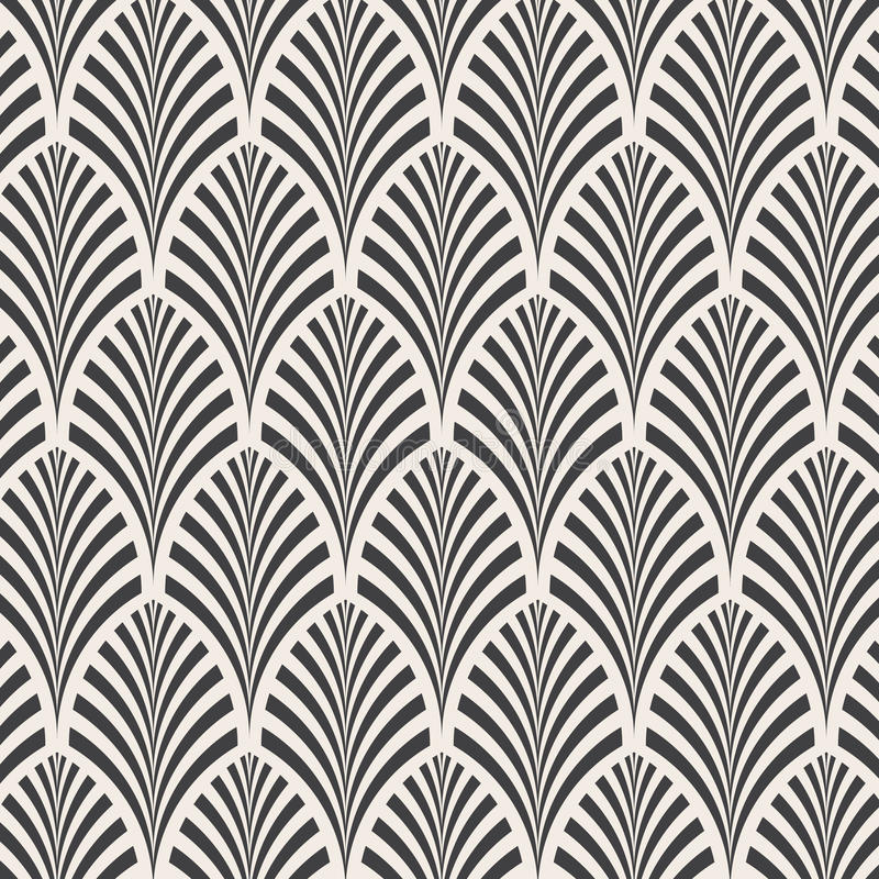 ector Muster Einfarbige Verzierung mit Zusammenfassung verlässt Hintergrund lizenzfreie abbildung