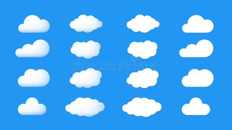 Ector Perfect And Cumulus Cartoon Cloud Icons 3d And Flat