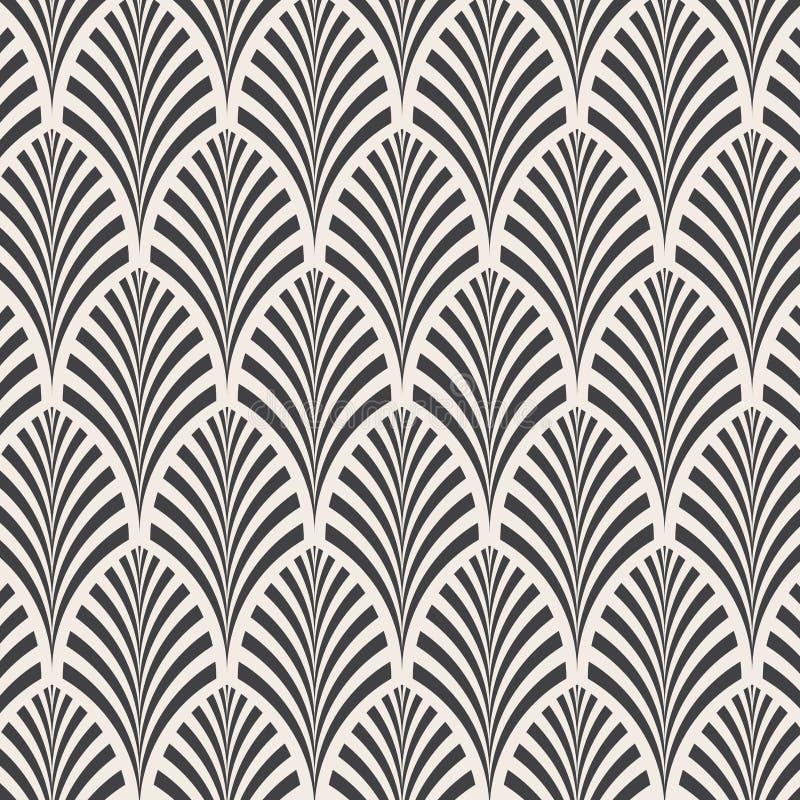 ector wzór Monochromatyczny ornament z abstraktem opuszcza tło royalty ilustracja