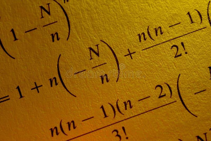 Ecuación fotografía de archivo libre de regalías