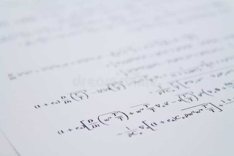 ecuación foto de archivo libre de regalías