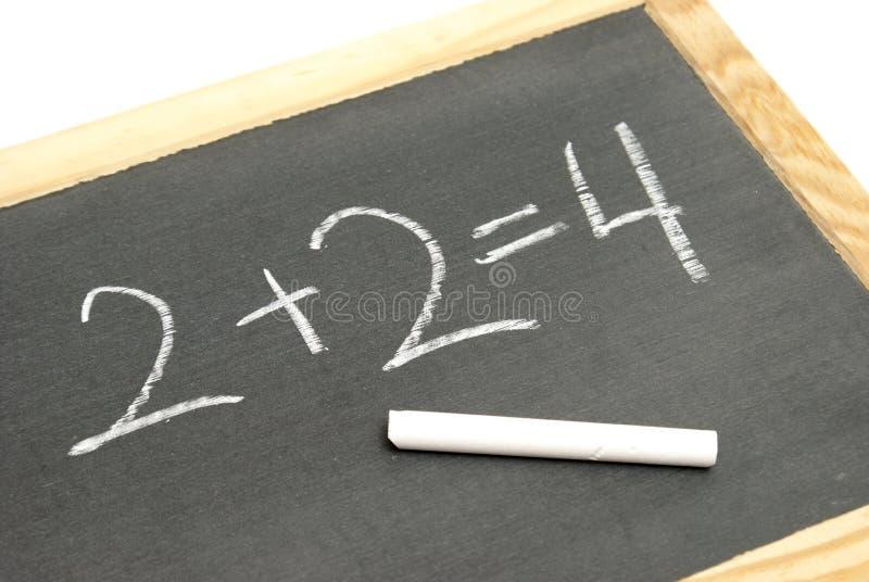 Ecuación básica de la matemáticas imagenes de archivo