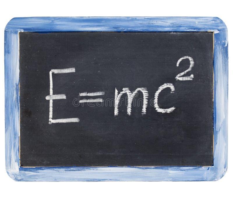 Ecuación de Einstein imagen de archivo