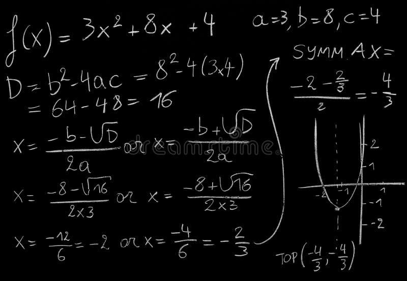 Ecuación de la matemáticas foto de archivo
