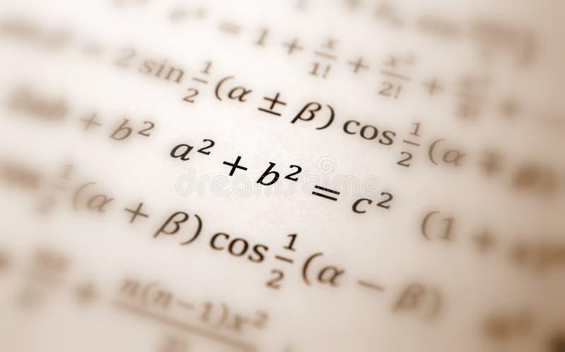 Ecuación de Pythagoras imagenes de archivo
