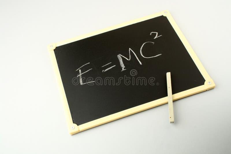 Ecuación famosa de Einstein fotos de archivo