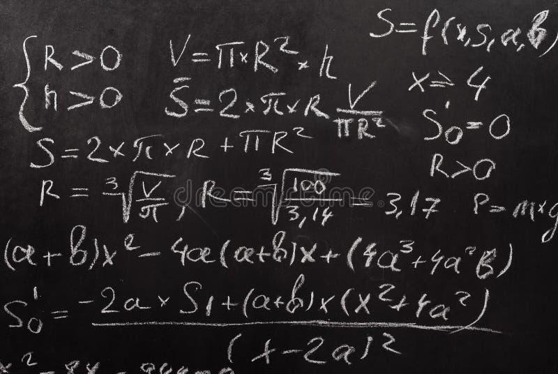 Ecuación matemática fotografía de archivo