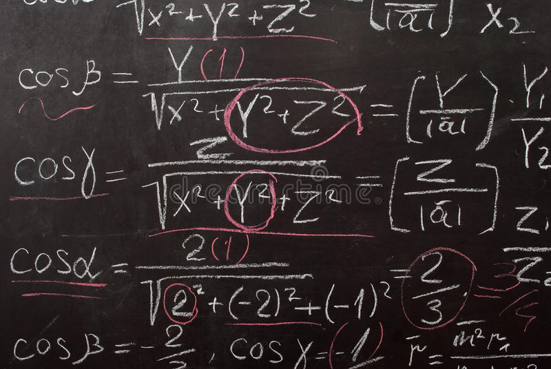 Ecuación matemática fotografía de archivo libre de regalías