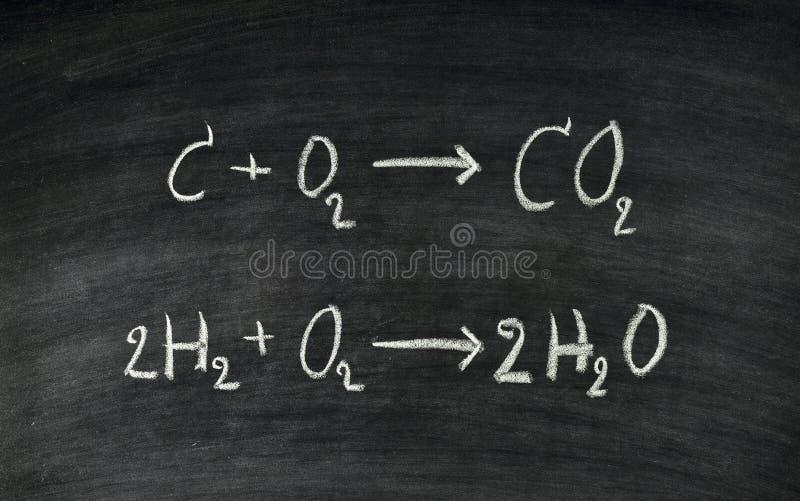 Ecuación química fotografía de archivo