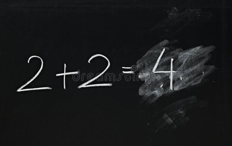 Ecuación simple de la matemáticas fotografía de archivo libre de regalías