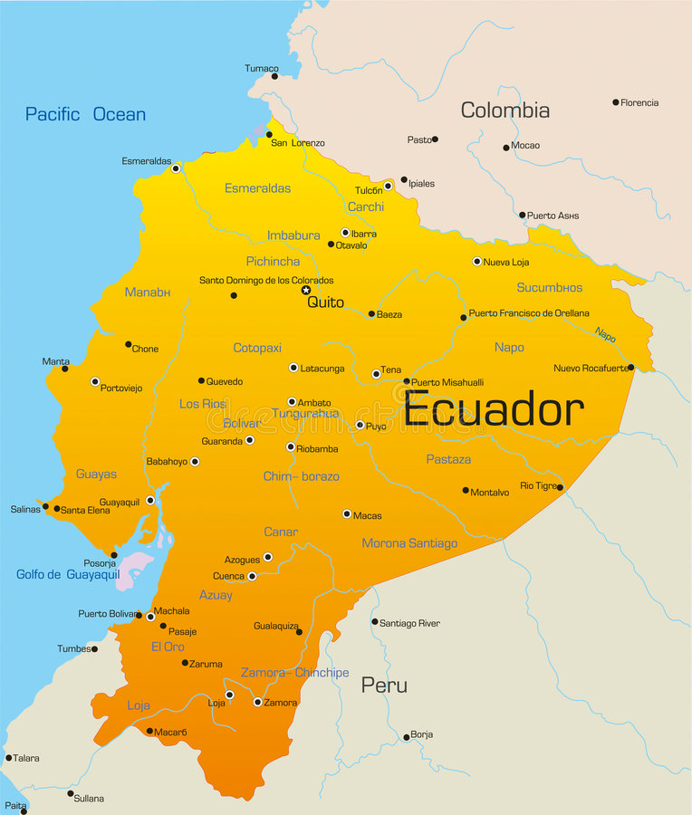 Ecuador vektor illustrationer