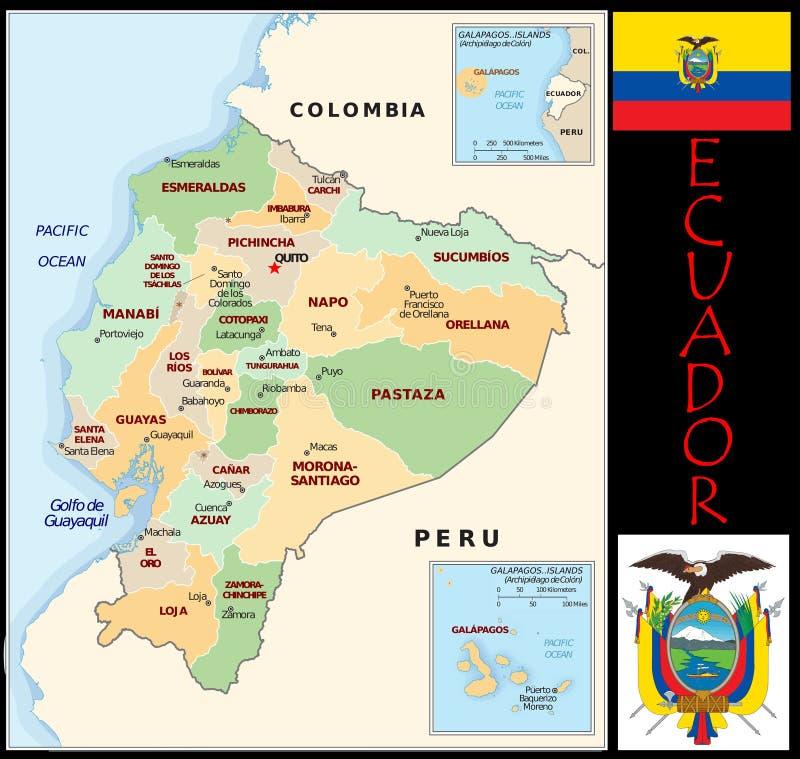 Ecuador Administrative Divisions Stock Illustration Illustration