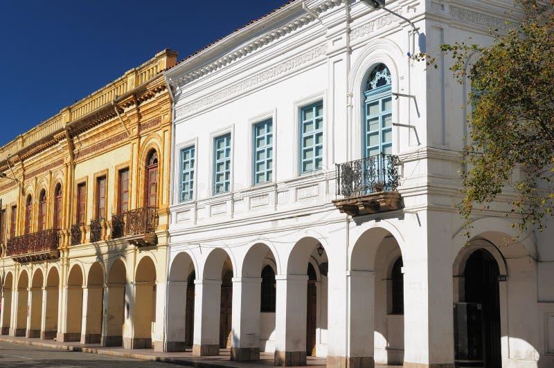 Ecuador, Ansicht über die Cuenca-Stadt lizenzfreies stockbild