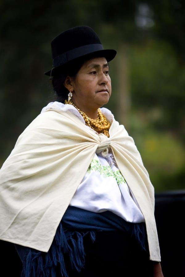 ecuador ecuadorian otavalo kobieta obrazy stock