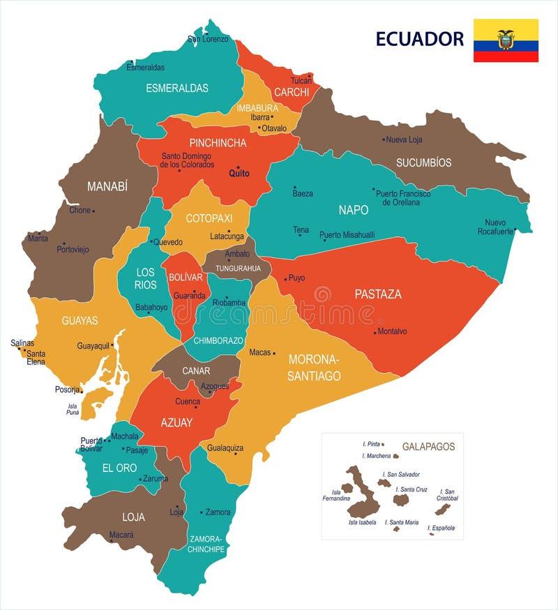 Ecuador ejemplo detallado del vector del mapa y de la bandera download ecuador ejemplo detallado del vector del mapa y de la bandera stock de ilustracin gumiabroncs Images