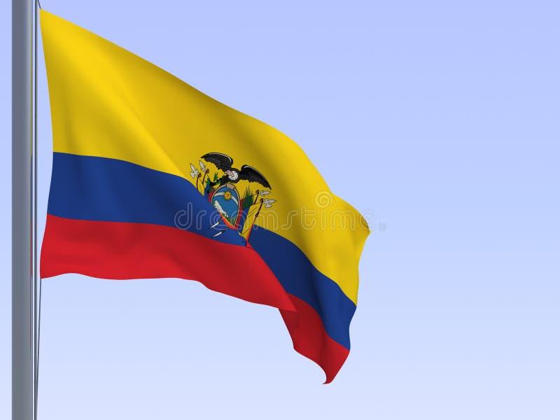 ecuador flaga royalty ilustracja