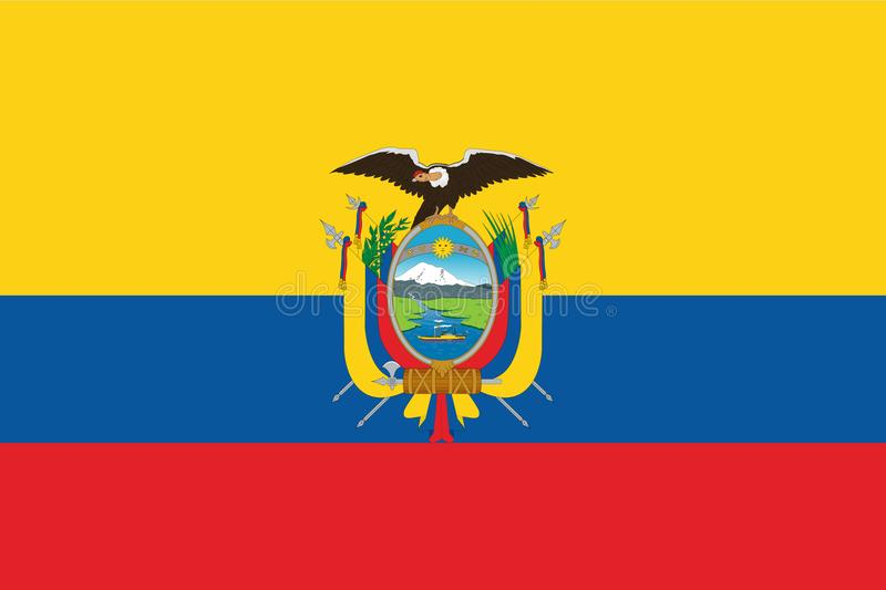 ecuador flagga vektor illustrationer