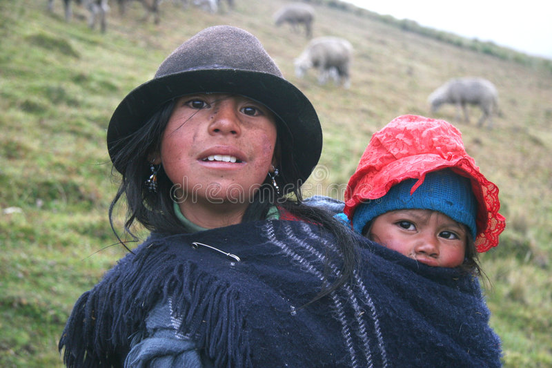 ecuador folk royaltyfria bilder