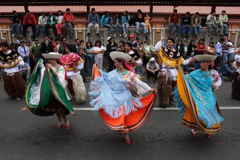 ecuador karnawałowy riobamba obraz stock
