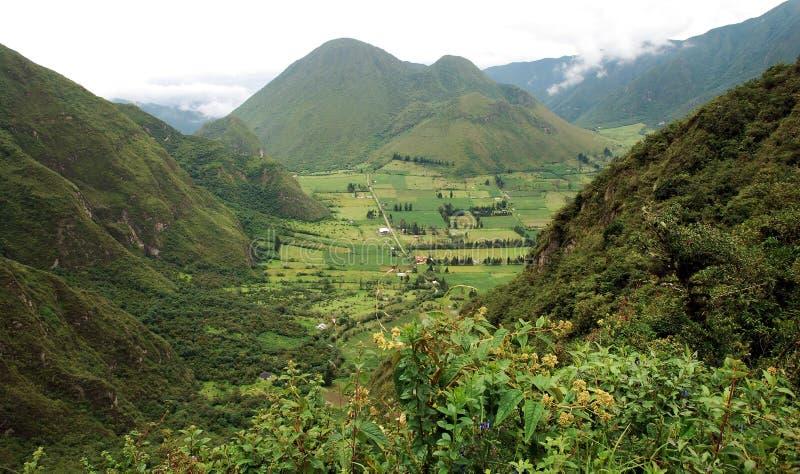 Ecuador-Landschaft lizenzfreie stockbilder
