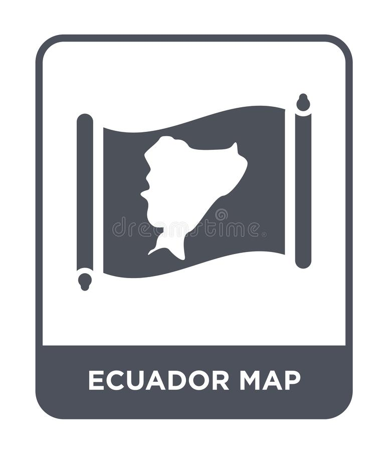Ecuador map icon in trendy design style. ecuador map icon isolated on white background. ecuador map vector icon simple and modern. Flat symbol for web site vector illustration