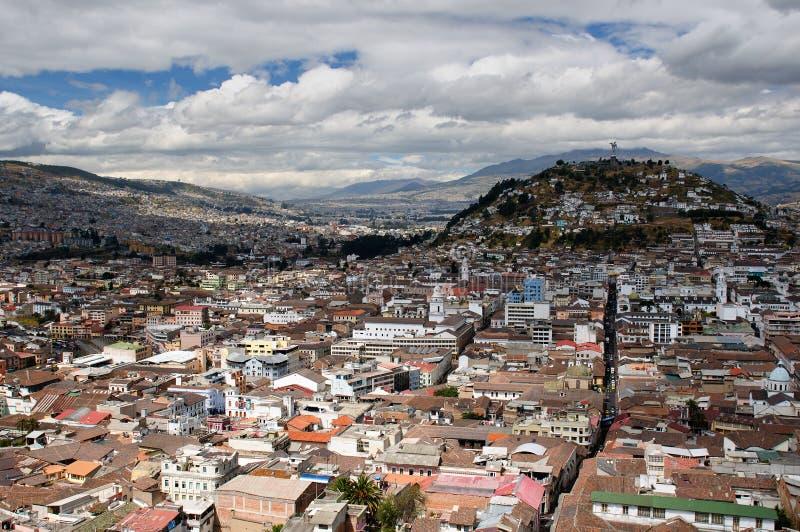 Ecuador, opinión sobre Quito foto de archivo libre de regalías