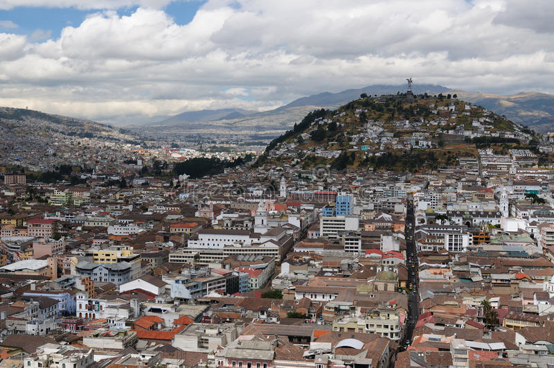 Ecuador, opinión sobre Quito imagen de archivo libre de regalías
