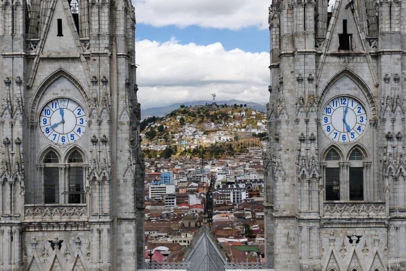 Ecuador, opinión sobre Quito imagen de archivo