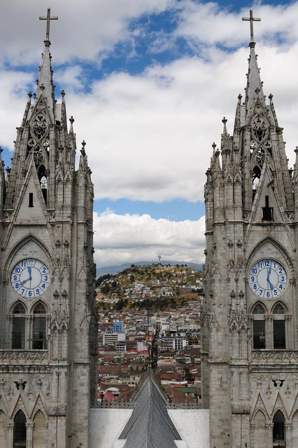 Ecuador, opinión sobre Quito foto de archivo