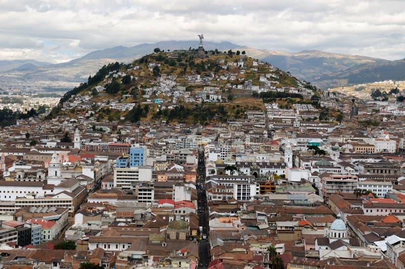 Ecuador, opinión sobre Quito imagenes de archivo