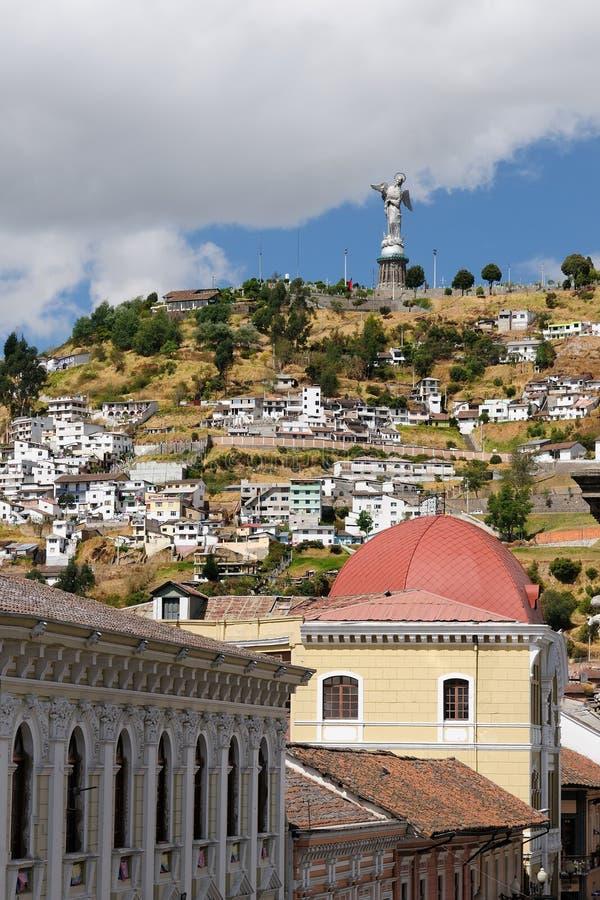 Ecuador, opinión sobre Quito fotografía de archivo