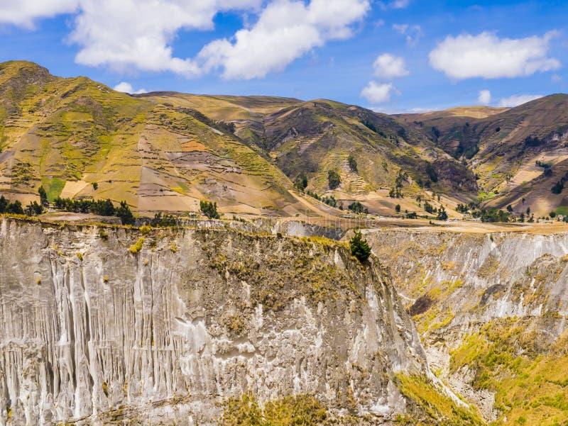 Ecuador, overweldigende mening van Toachi-riviercanion, royalty-vrije stock afbeelding