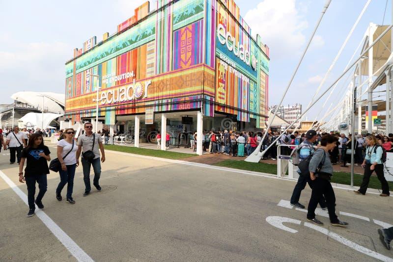 Ecuador paviljong Milan, milano expo 2015 royaltyfria bilder