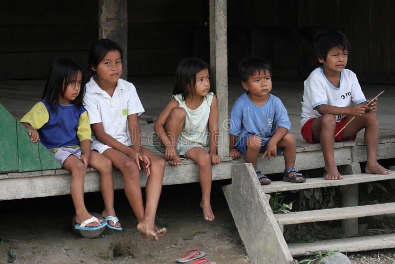 ecuadorian детей стоковое фото rf