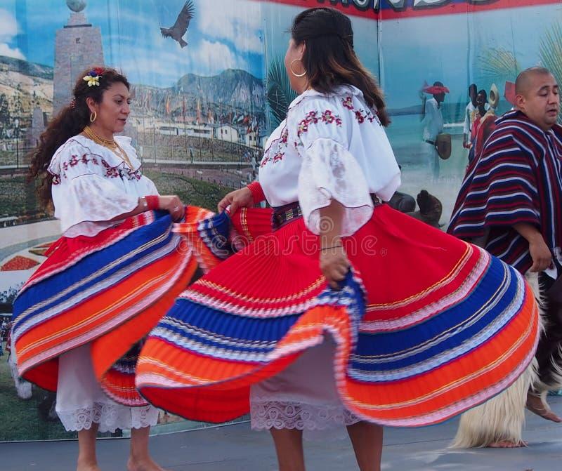 Ecuadorian Dancers At Edmontons Heritage Days 2013. Ecuadorian dancers at Edmonton's Heritage Days 2013 stock photos