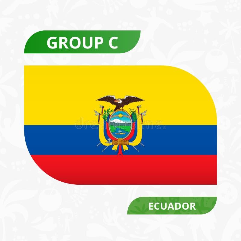Ecuadoriansk lagflagga som göras i fotbollkonkurrensstil vektor illustrationer