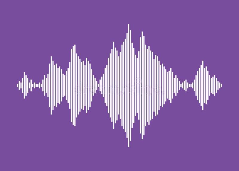 ecualizador blanco aislado en fondo violeta stock de ilustración