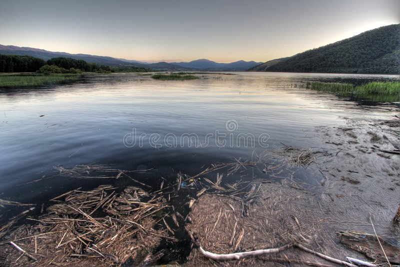 ecumbene λίμνη στοκ εικόνες