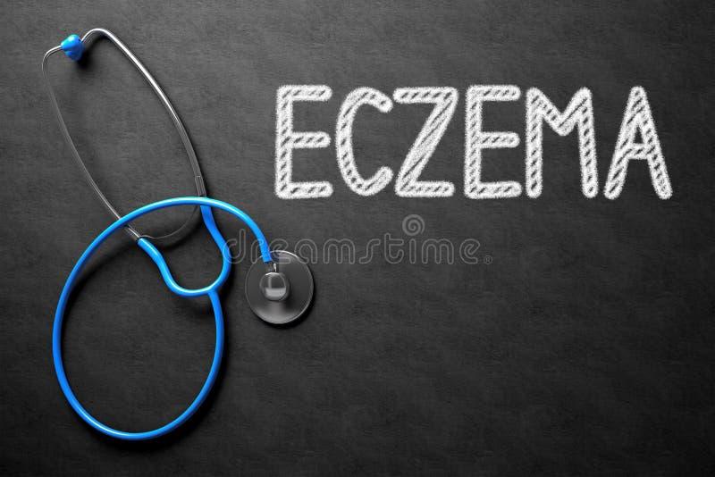 Eczema en la pizarra ilustración 3D fotografía de archivo