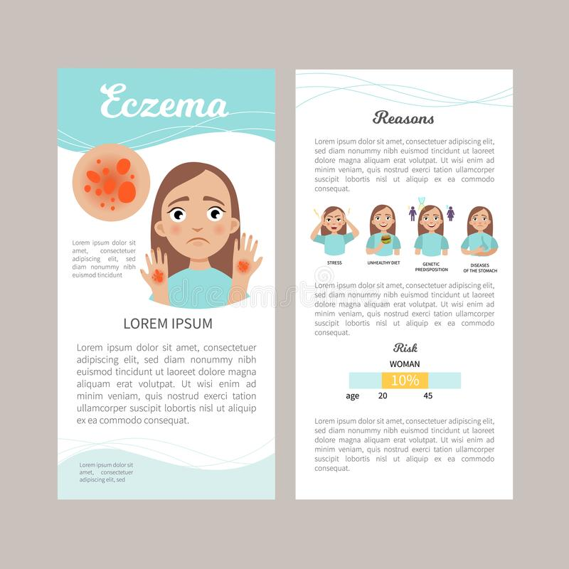 Eczema infographic illustration stock