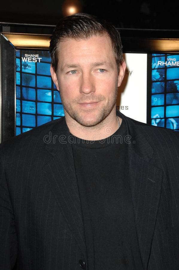 Ed Burns. At the World Premiere of 'Echelon Conspiracy'. Paramount Theatre, Hollywood, CA. 02-25-09 stock image