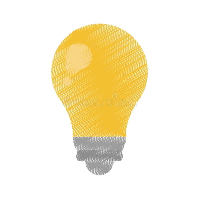 Ed för symbol för elektricitet för ljus energi för kula royaltyfri illustrationer